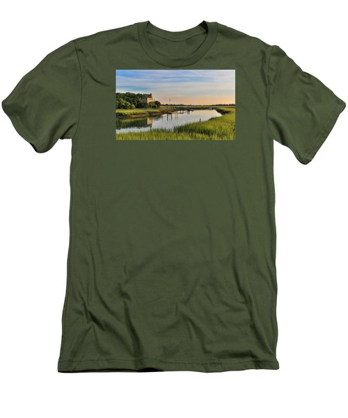 Morning On The Creek - Wild Dunes Men's T-Shirt (Athletic Fit)