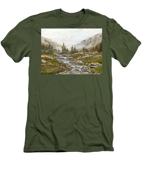 Morning Rising Fog Men's T-Shirt (Athletic Fit)