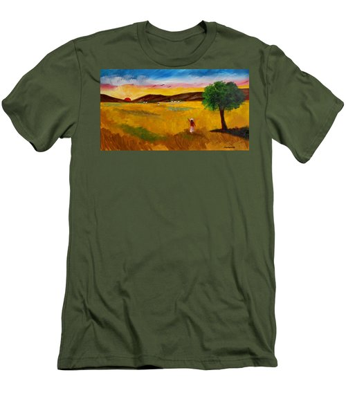 Morning Salute Men's T-Shirt (Athletic Fit)