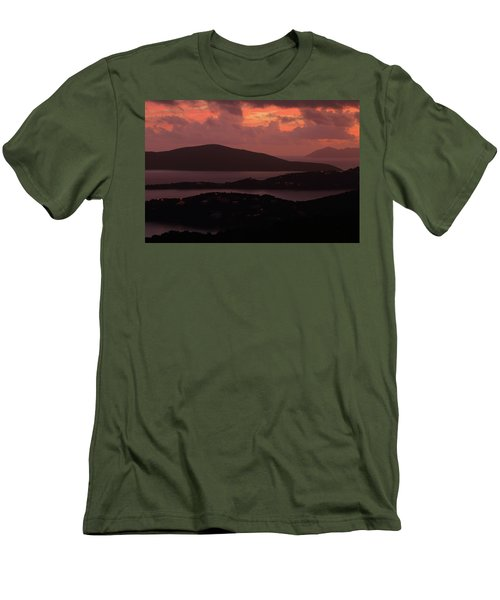 Men's T-Shirt (Slim Fit) featuring the photograph Morning Sunrise From St. Thomas In The U.s. Virgin Islands by Jetson Nguyen