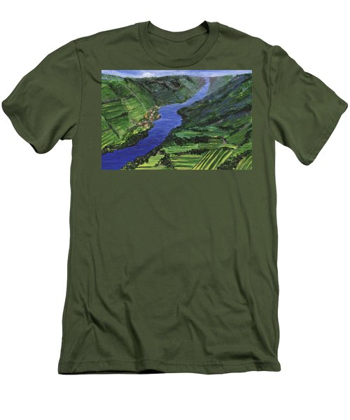 Men's T-Shirt (Athletic Fit) featuring the painting Moselle River by Jamie Frier