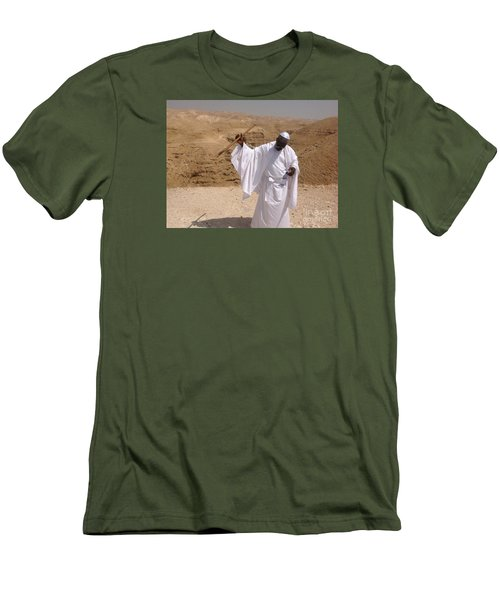 Men's T-Shirt (Slim Fit) featuring the photograph Moses by Simon
