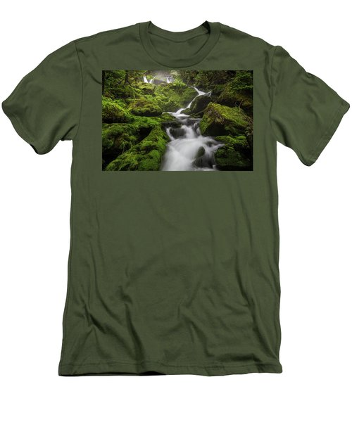 Mossy Fall #3 Men's T-Shirt (Athletic Fit)