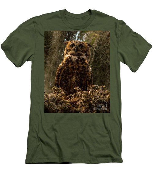 Mother Owl Posing Men's T-Shirt (Slim Fit) by Jane Axman