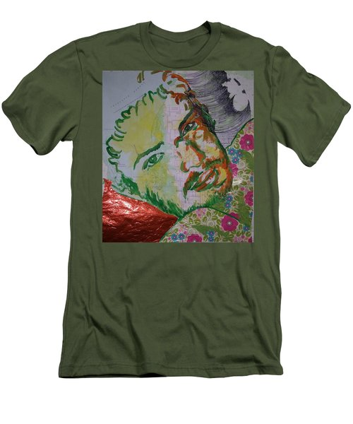 Men's T-Shirt (Slim Fit) featuring the painting Mothering Max by Tilly Strauss
