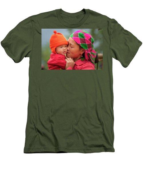 Motherly Love, Sa Pa, 2014 Men's T-Shirt (Slim Fit) by Hitendra SINKAR