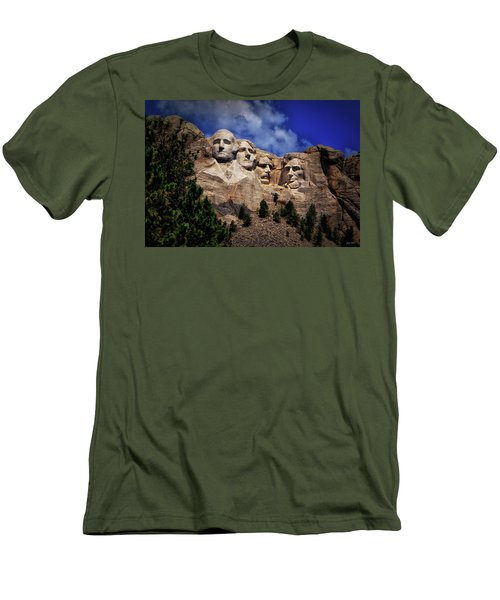 Mount Rushmore 008 Men's T-Shirt (Slim Fit) by George Bostian