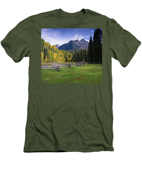 Mount Sneffels In Autumnn Men's T-Shirt (Athletic Fit)