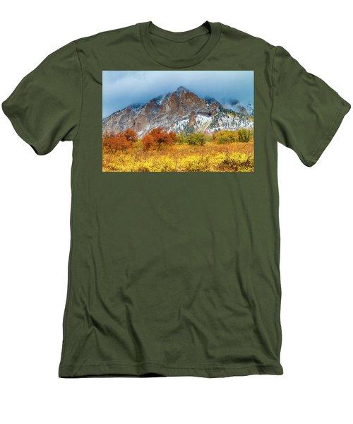 Mountain Autumn Color Men's T-Shirt (Slim Fit) by Teri Virbickis
