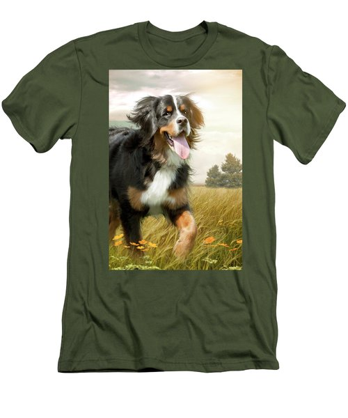 Mountain Dog Men's T-Shirt (Athletic Fit)