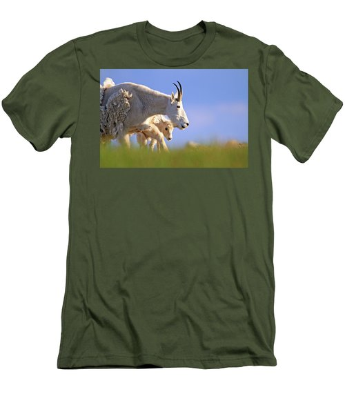 Men's T-Shirt (Slim Fit) featuring the photograph Mountain Goat Light by Scott Mahon