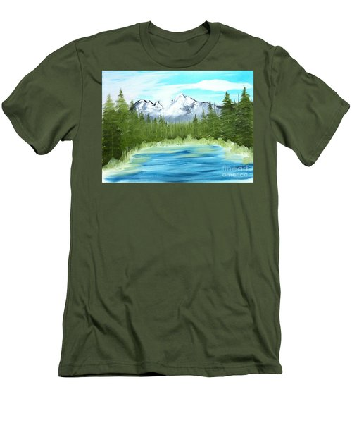 Mountain Imagining Men's T-Shirt (Athletic Fit)