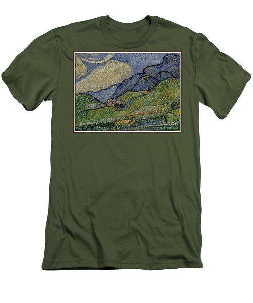 Mountain Landscape Men's T-Shirt (Slim Fit) by Pemaro