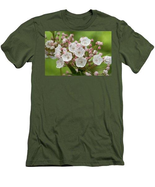 Mountain Laurel Men's T-Shirt (Slim Fit) by Henri Irizarri