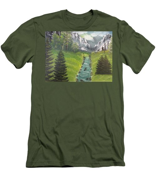 Mountain Meadow Men's T-Shirt (Slim Fit) by Thomas Janos