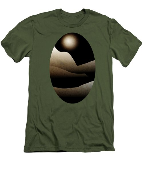 Mountain Moonlight Landscape Art Men's T-Shirt (Slim Fit) by Christina Rollo