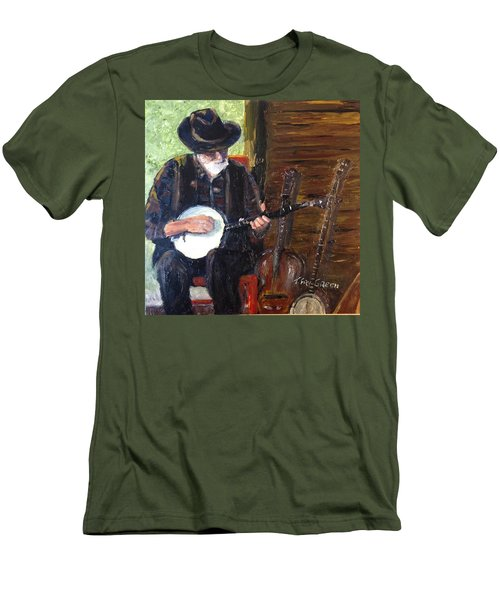 Mountain Music Men's T-Shirt (Slim Fit) by T Fry-Green