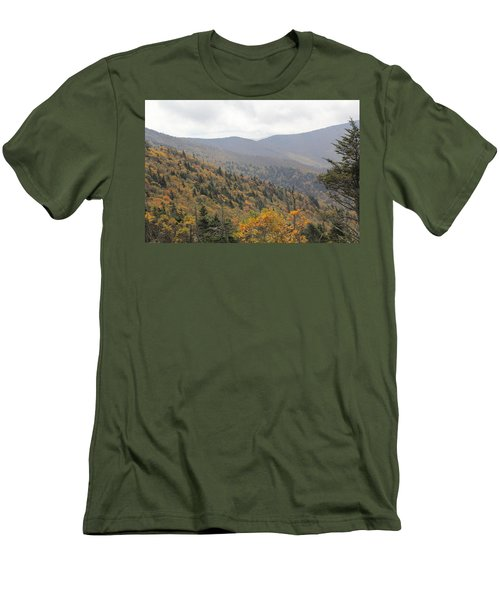 Mountain Side Long View Men's T-Shirt (Athletic Fit)