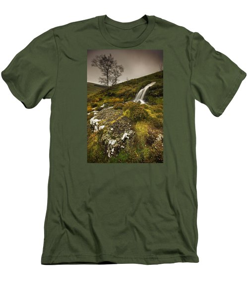 Mountain Tears Men's T-Shirt (Slim Fit) by John Chivers