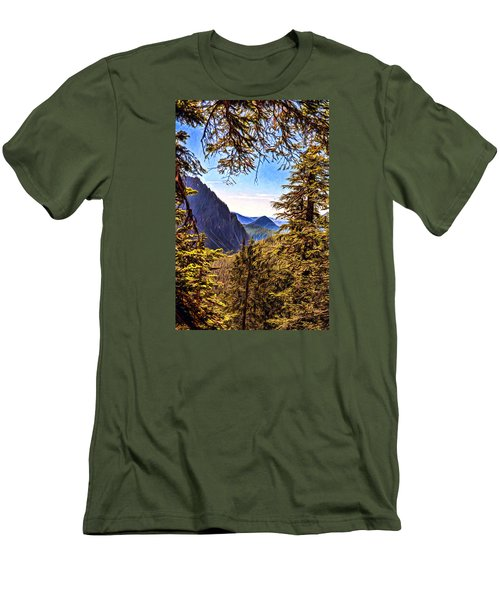 Men's T-Shirt (Slim Fit) featuring the photograph Mountain Views by Anthony Baatz