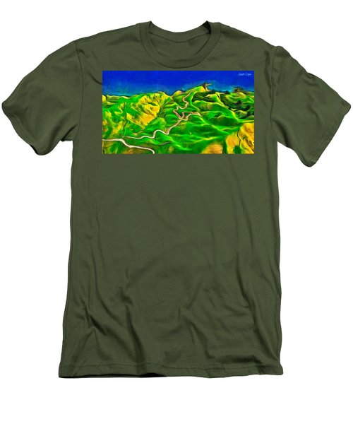 Mountains And Ocean - Pa Men's T-Shirt (Athletic Fit)