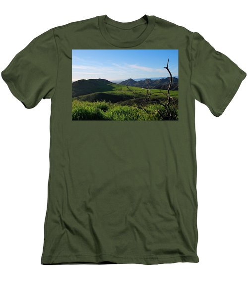 Men's T-Shirt (Athletic Fit) featuring the photograph Mountains To Valley View by Matt Harang