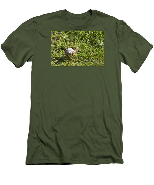 Men's T-Shirt (Slim Fit) featuring the photograph Moving by Leif Sohlman