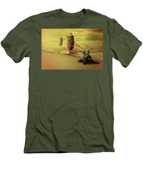 Men's T-Shirt (Slim Fit) featuring the digital art Moving On by Nathan Wright