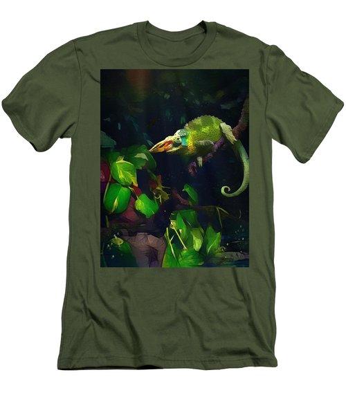 Men's T-Shirt (Slim Fit) featuring the photograph Mr. H.c. Chameleon Esquire by Sharon Jones
