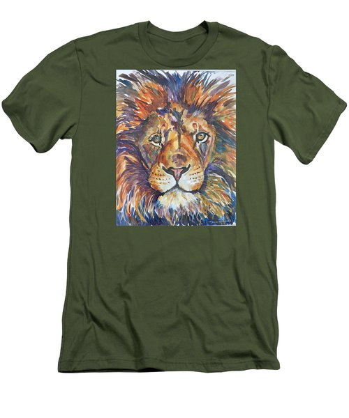 Men's T-Shirt (Slim Fit) featuring the painting Mr Majestic by P Maure Bausch