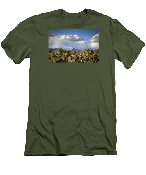 Mt Charleston Snow Storm Men's T-Shirt (Athletic Fit)