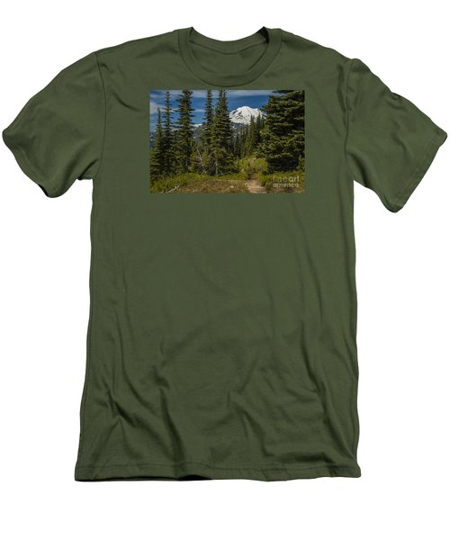 Mt. Rainier Naches Trail Landscape Men's T-Shirt (Athletic Fit)