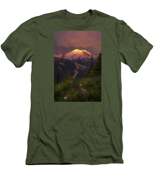Mt. Rainier Sunrise Men's T-Shirt (Athletic Fit)