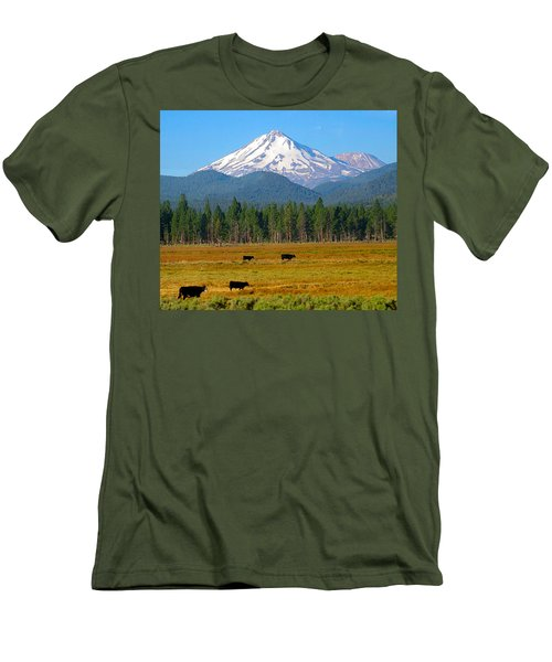Mt. Shasta Morning Men's T-Shirt (Athletic Fit)