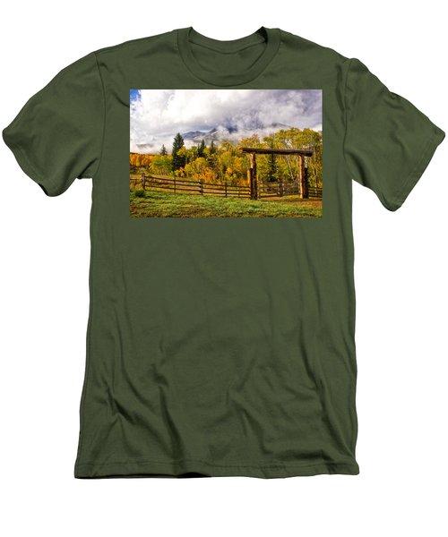 Mt Sopris Under The Clouds Men's T-Shirt (Athletic Fit)