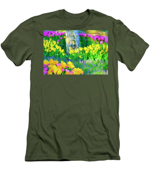 Mt Vernon Tulip Garden 1 Men's T-Shirt (Athletic Fit)