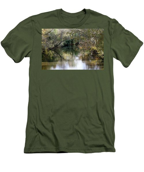 Men's T-Shirt (Slim Fit) featuring the photograph Muckalee Creek by Jerry Battle