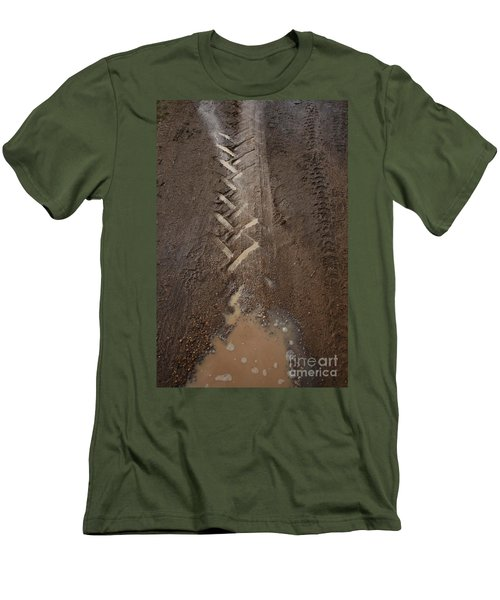 Men's T-Shirt (Athletic Fit) featuring the photograph Mud Escape by Stephen Mitchell