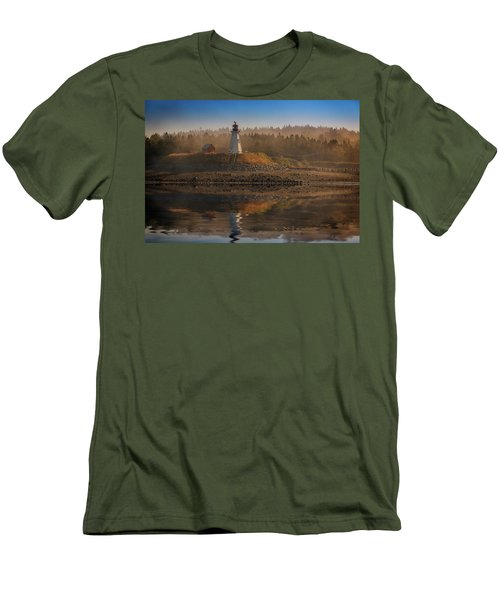 Men's T-Shirt (Athletic Fit) featuring the photograph Mulholland Point Lighthouse by Rick Berk