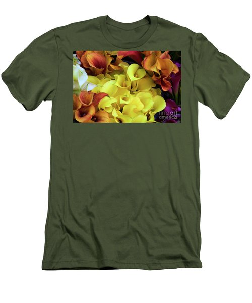 Multicolored Calla Lillies Men's T-Shirt (Athletic Fit)