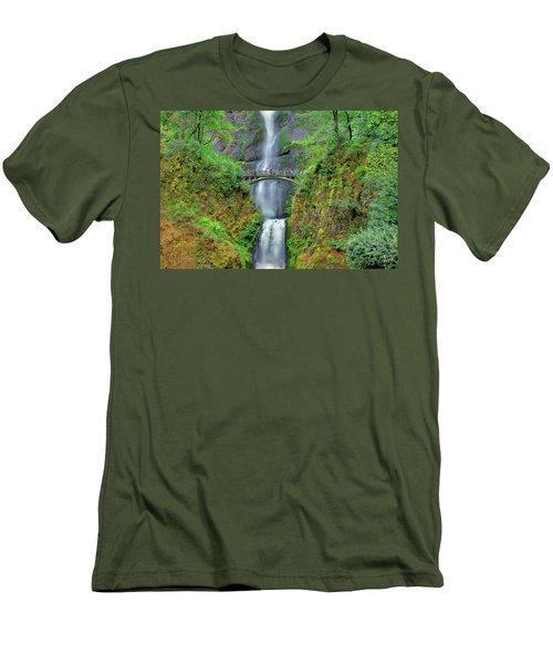 Multnomah Falls 2  Men's T-Shirt (Athletic Fit)