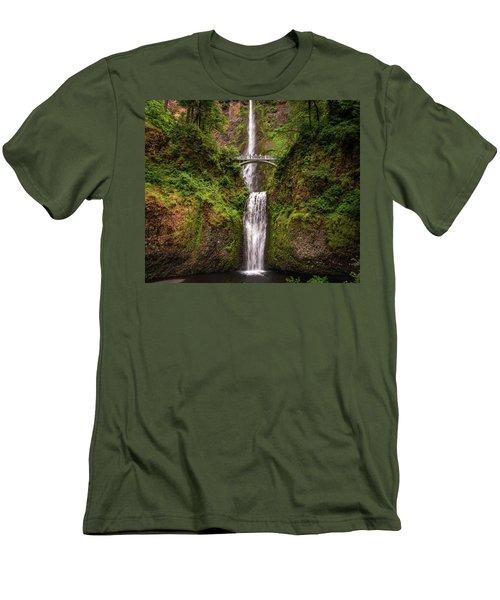 Multnomah Falls Men's T-Shirt (Slim Fit) by Martina Thompson