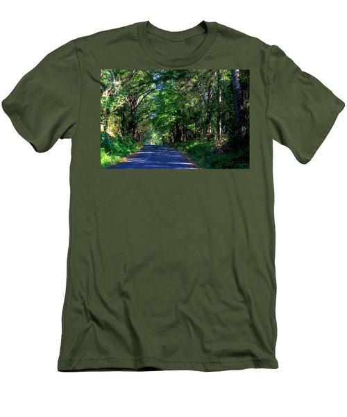 Murphy Mill Road - 2 Men's T-Shirt (Slim Fit) by Jerry Battle