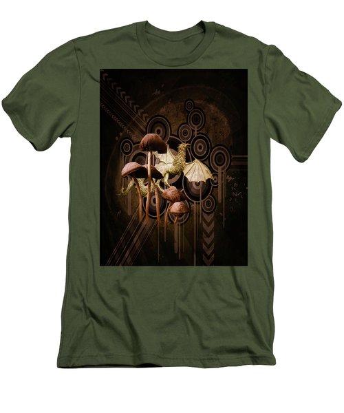 Mushroom Dragon Men's T-Shirt (Slim Fit)