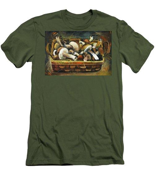 Mushrooms Men's T-Shirt (Athletic Fit)