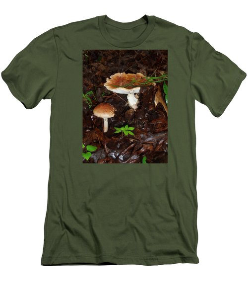 Mushrooms Rising Men's T-Shirt (Athletic Fit)