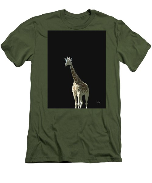 Men's T-Shirt (Slim Fit) featuring the digital art Music Notes 32 by David Bridburg