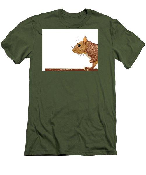 Men's T-Shirt (Slim Fit) featuring the digital art Music Notes 7 by David Bridburg