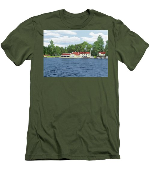 Men's T-Shirt (Slim Fit) featuring the painting Muskoka Lakes Golf And Country Club by Kenneth M Kirsch