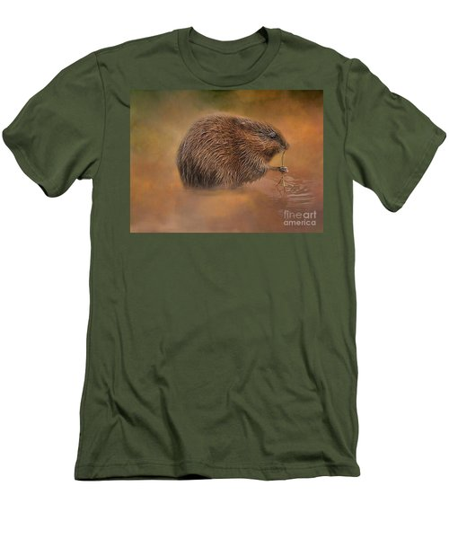 Muskrat Snack Men's T-Shirt (Athletic Fit)